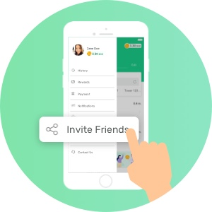 Invite friend to SOCASH